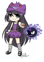 Pokemon OC: Trainer Violetta by LauEspi97