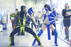 Scorpion VS Kitana by Jane-Po