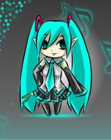 Miku toon style by Coco-of-the-Forest