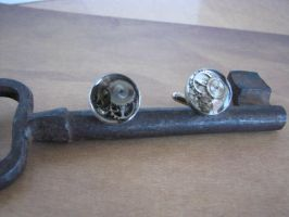 Steampunk Cuff Links with Vintage Watch Gears by bcainspirations