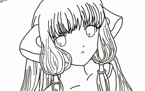 Chii Chobits LineWork by AriaOmicronCx