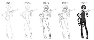 Basic full-body Fteen tutorial by red-jello04