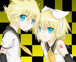 Rin and Len by wundrfool