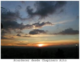 Atardecer desde Chapinero alto by tomegatherion