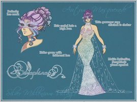 Seraphina's Masquerade Gown by thelettergii