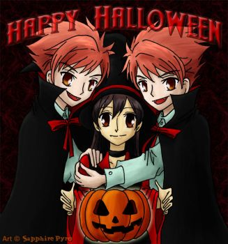 +Ouran+ Happy Halloween by sapphire-pyro