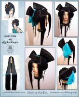 Jigoku Shoujo - Hone Onna wig commission by Rei-Doll