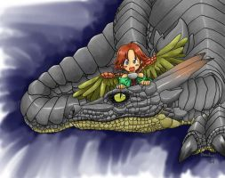 Eiji and some dragon by shinfua