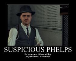 Suspicious Phelps by soren7550
