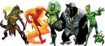 Some ICONS villains by WillDan
