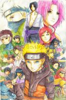Naruto Shippuden -color- by h-ozuno
