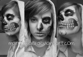 skull make up by marrrysia1811