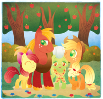 Apple family by DisfiguredStick
