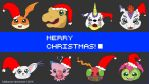 Merry Christmas from Digimon by fulldancer-alchemist