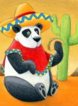 Mexican Panda by tursiart