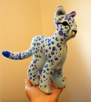 Blue Orchid Cheetah Plush by Ljtigerlily