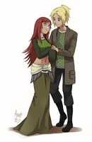 Aina and Hiroshi by meago