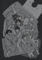SnK : sleeping bags by LadyNorthstar
