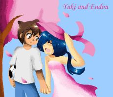Yuki and Endou Sakura Love by the88cherryice