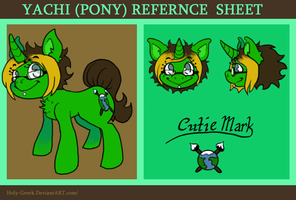 Yachi (as Pony) REF SHEET by Reptonic