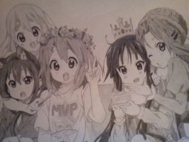 Mi tercer dibujo de K-on :B by NicoF456