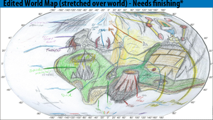 Edited World Map Geographics by Mabeanie