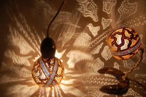 Gourd Lamp Set -Gourdlight- by gourdlight