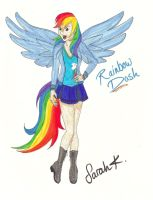 Human Rainbow Dash (updated) by singstargirl13