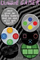 Button Set: Ulitmate Gamer by Shalie