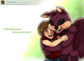 ASK FNAF Bucky Question NO.4 by KasaraWolf
