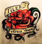 Tyler's Tattoo: R.I.P by Anesthetic-X