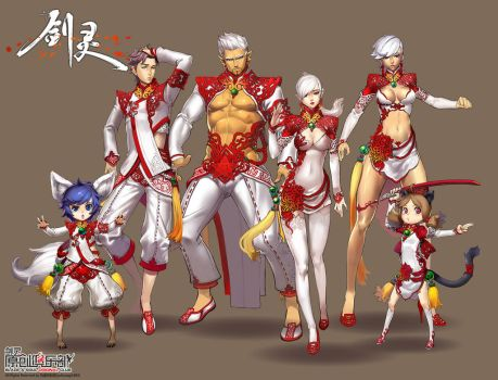 designed costume of Blade and soul China by yukiusagi1983