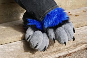 Fursuit Sock Paws by DexterousZombie
