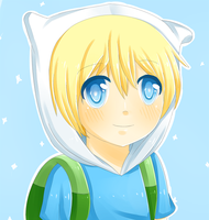 Adventure time fanart: Finn bust by chocomax