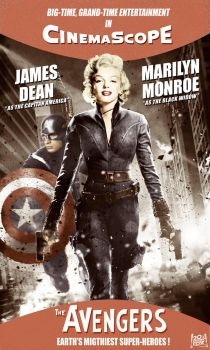 Marilyn Monroe as Black Widow by CatDigitalArt