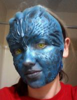 Mystique Makeup Test 3 by leafeon-ex