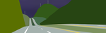 Driving though the rolling hills by OceanRailroader