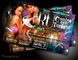 RU COMMING OVER TONIGHT Flyer by innografiks