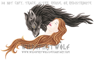 Girl And Werewolf Tattoo by WildSpiritWolf