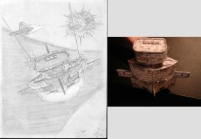 Frigate Drawing/model comparison by ARMORMAN