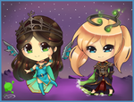 RS: Chibi Persephanne and Brooke by Tifa-Amakura