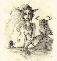 Pencil : Faery by Pakoune