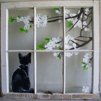 Cat in the Window by Ronigirl