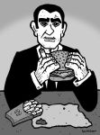 Rod Serling Eats Lunch by Hartter