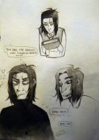Harry Potter: Snape Sketches by Lascaux