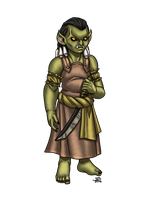 Half Orc Child by ProdigyDuck