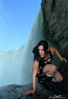 Lara in the falls by Jessie-TR