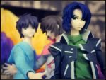 Shinn, Kira and Athrun by sentry-sight