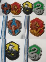 Pottermore House Badges by ChibiSilverWings