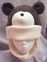 Brown bear hat by The-Cute-Storm